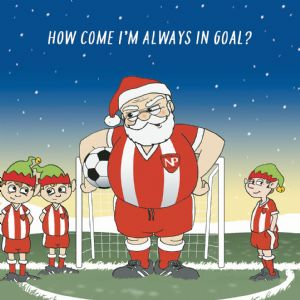 CANX47 – Always In Goal Humour Christmas Card